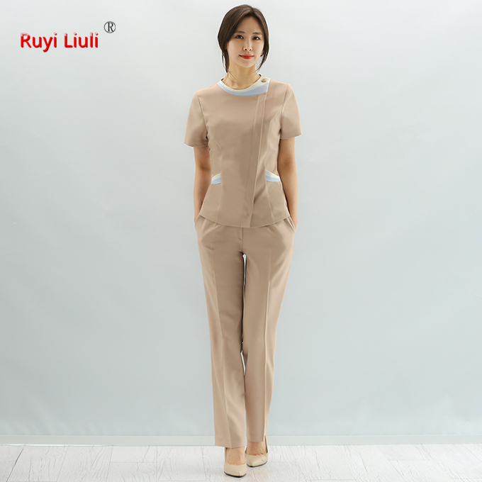 Plastic Surgery Hospital Nurse Suit Suit Korean Version Of Medical Cosmetology Work Clothes Tattoo Suit Spa Physiotherapy Massag