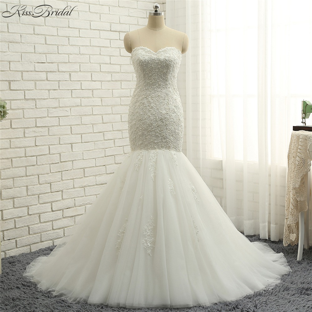 Mermaid Style Lace Wedding Gowns: New Arrival Sweetheart Neckline Wedding Dresses Mermaid