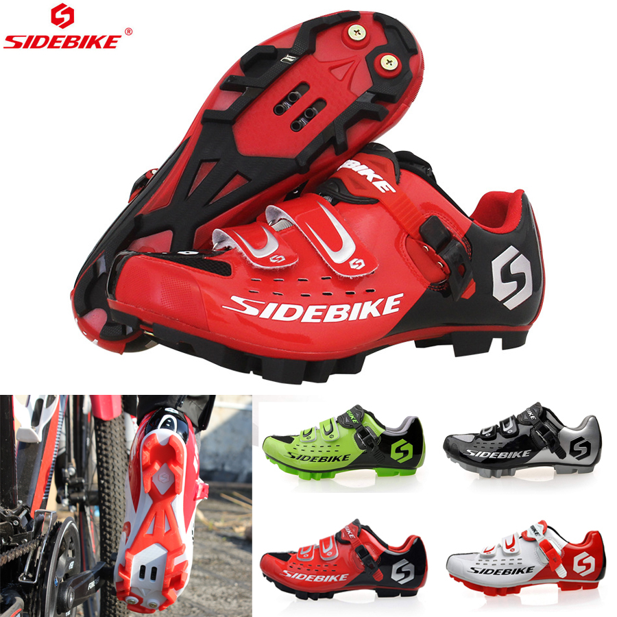 Squeeze Toys Sidebike Men Women Cycling Shoes Road Bicycle Shoes Ultralight Self-locking Cycling Bike Shoes Sneaker Sapatos De Ciclismo Red