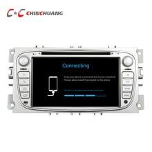 1024*600 Quad Core Android 6.0 Автомобильный DVD Плеер с СЕНСОРНЫМ Ford Focus Mondeo Galaxy C-MAX с Радио Bluetooth Зеркало ссылка, wi-fi 4 Г