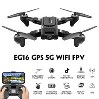 Eachine EG16 WINGGOD GPS 5G WiFi FPV RC Drone Quadcopter with 4K HD Camera Foldable Optical Flow Positioning Dual Lens RTF