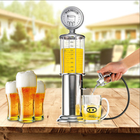 New Mini Beer Dispenser Machine Drinking Vessels Double Gun Pump with Transparent Layer Design Gas Station Bar for Drinking Wine