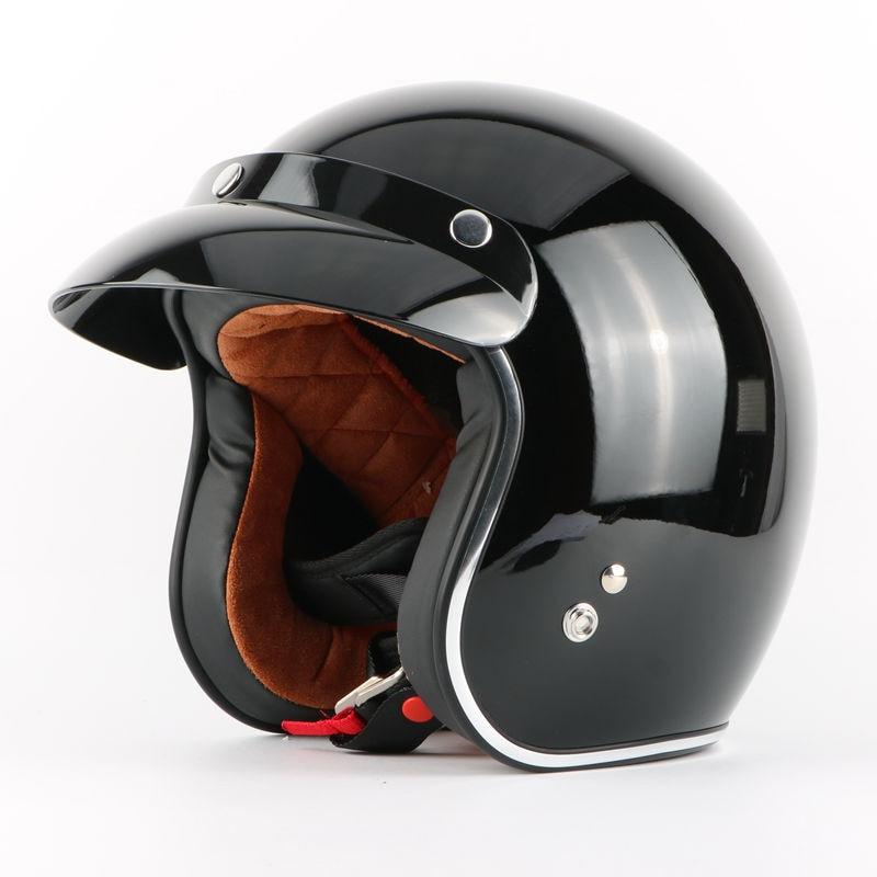 бесплатная доставка гривна шлем КАСКО лошади 3/4 открытое лицо старинные ретро реактивный мотоцикл мотокросс мотоцикл шлем пузырь козырек
