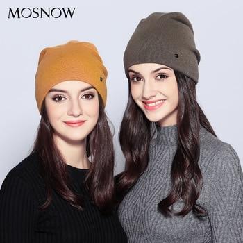 Women's Top Wool Casual Autumn Winter Brand New Double Layer Skullies Beanies
