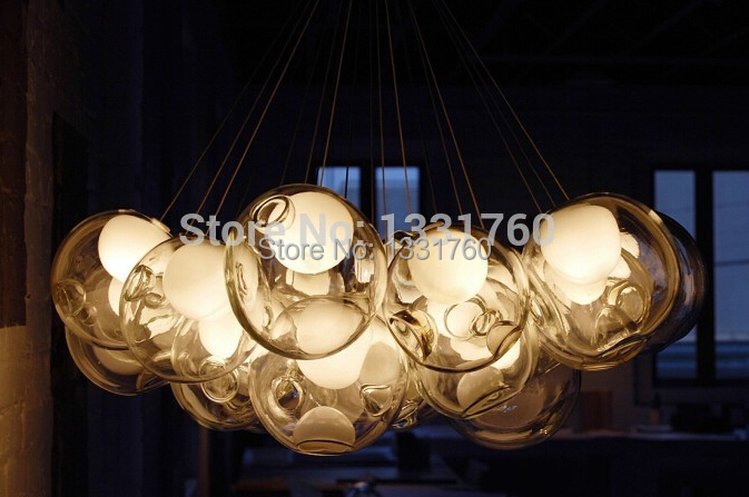 9 головок стеклянный шар красочные стеклянные сферы Dia15cm mordern лампа Подвесные светильники