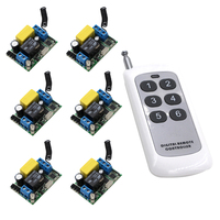 220V Wireless Remote Control Switch Electric Door Rolling Gate Curtain Remote Control Switch 315mhz 433mhz With