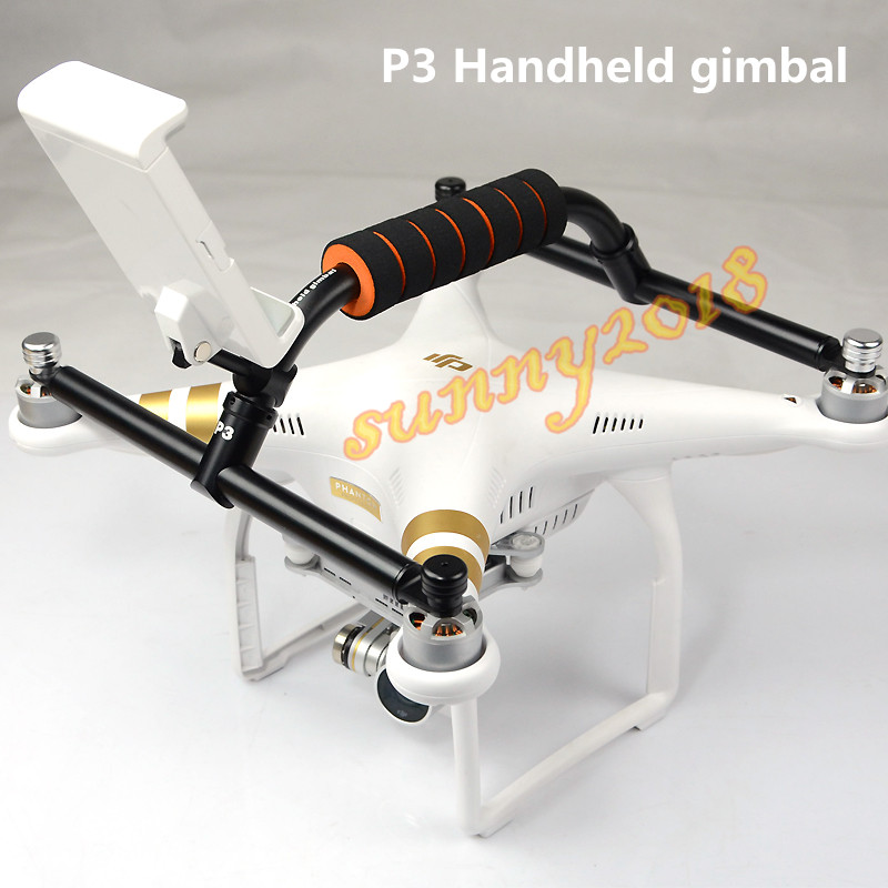 CNC Alloy P3 Handheld Gimbal Stabilizer for DJI Phantom 3 Professional Standard Advanced DJI Phantom 3 DIY RC FPV Accessories