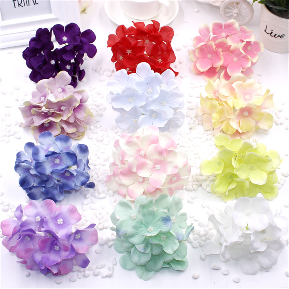 1pcs lot 11cm large hydrangea head artificial silk for Artificial decoration
