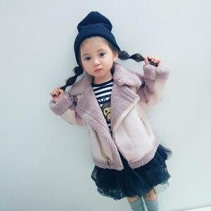 Image 3 - New Girls And Boys Coats  Winter Fur fleece jackets Unisex  kids Outwear  Girls Jacket 7CT069