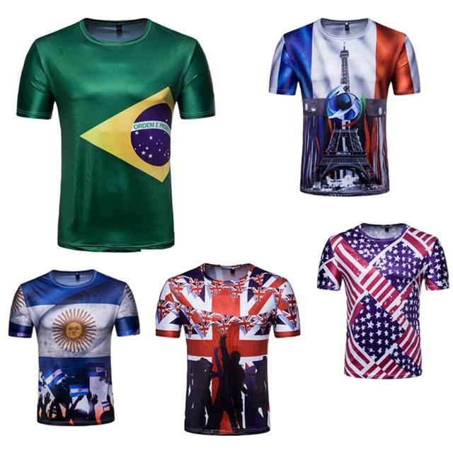 Camiseta de fútbol 2018 Brasil Francia inglaterra Argentina ventilador  camiseta de fútbol 2e9416f3e00d8