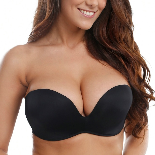 Women Silicone Bands Strapless Seamless Lift Ultimate Bra 1