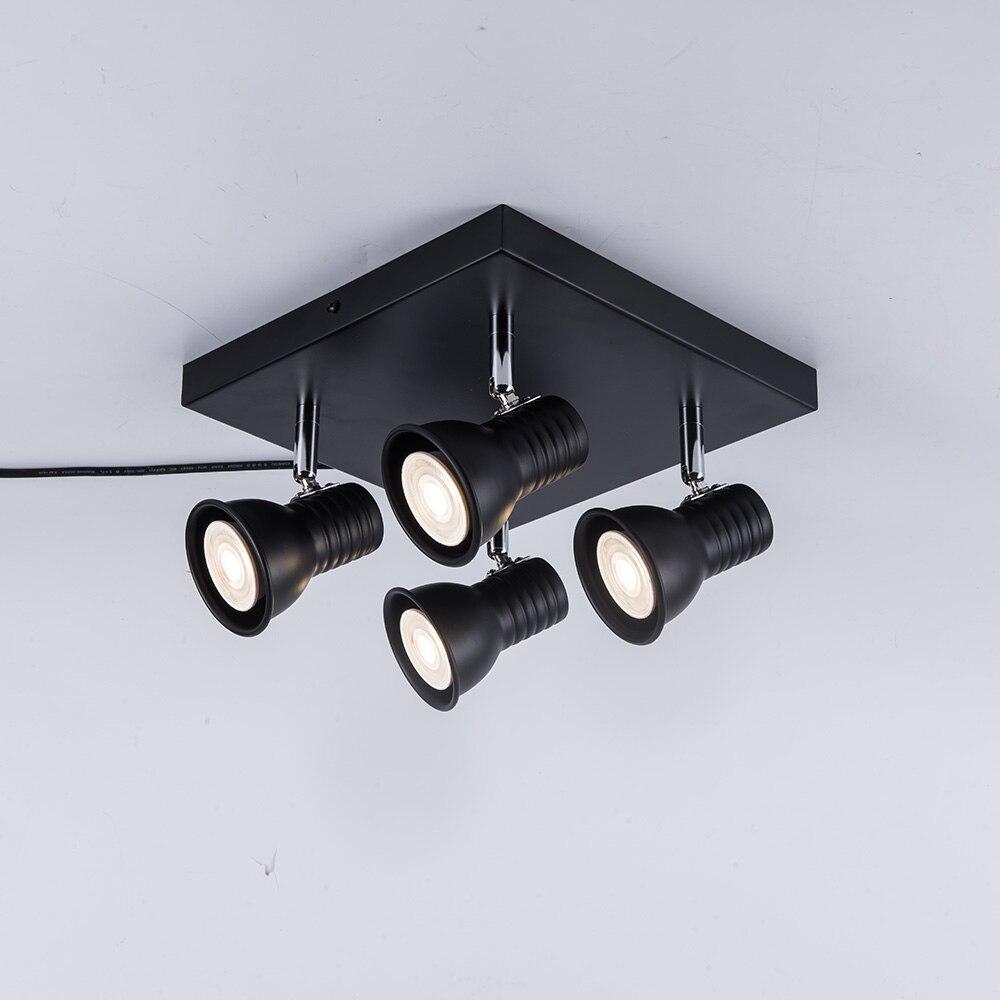 HTB1h37gaLjsK1Rjy1Xaq6zispXaa Adjustable led Ceiling light 3 heads rotatable showcase corridor ceiling lamp Modern living room bedroom kitchen spot lighting