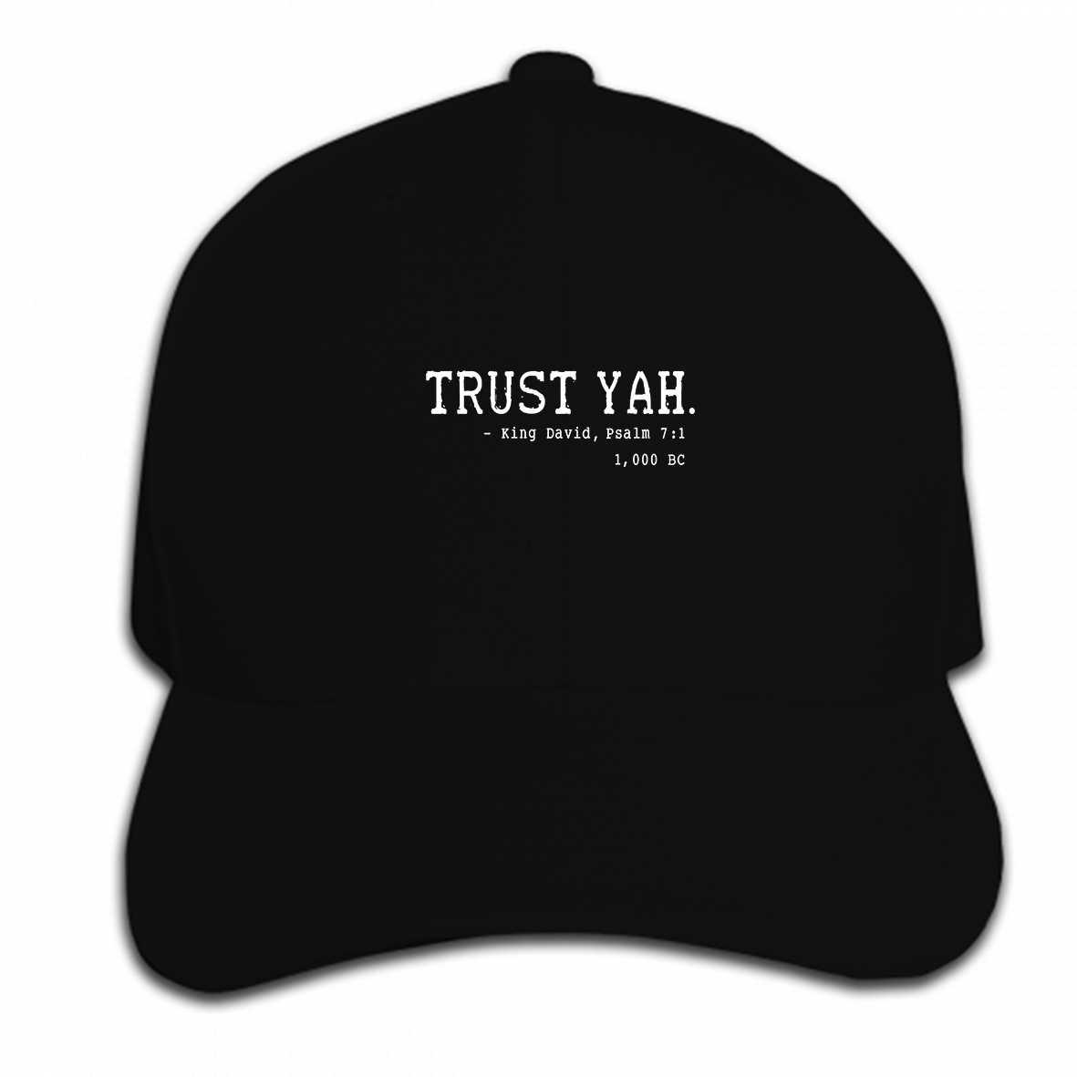Print Custom Baseball Cap Trust Yah Yahweh Hebrew Israelite Yeshua  Messianic Yahuah YHWH Torah Hat Peaked 73ed2ec636b5