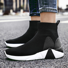 Women's Ankle Boots Wedges Plus Size 43-46 Stretch Fabric Breathable Sock Boots For Women Walking Platform Shoes Woman цены онлайн