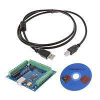 12 24V CNC MACH3 USB 4 Axis 100KHz Stepper Motion Controller Card Breakout Board