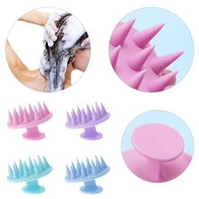 Silicone Shampoo Scalp Shower Hair Massage Massager Body Washing Brush Comb