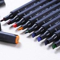 Doppia headed penna Marchio alcol 30/40 colori marcatori per i professionisti disegno manga art set marcatore schizzo di linea dipinta a mano disegno