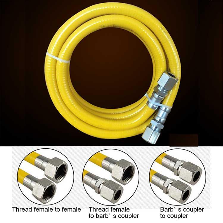 G1/2 желтый защиты Нержавеющаясталь гофрированные газовый шланг от 50 до 500 см