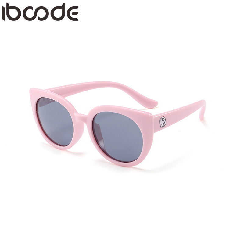 Iboode 2019 New Flexible Kids Sunglasses Polarized Boys Girls Baby Cat Eye Sun Glasses UV400 Child Eyewear Silicone Eyeglasses