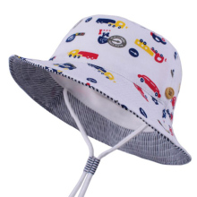 2019 Newborn Baby Boys Cartoon Car Cotton Panama Kids Summer Sun Hats Child Spring Bucket Soft Fashion Outdoor Hiking Caps