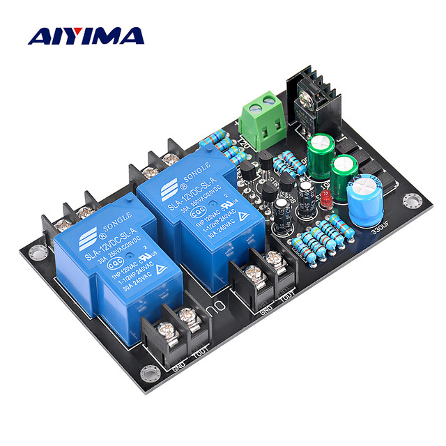 Best Price Aiyima 2.0 Speaker Protection Board kit Parts Reliable Performance 2 Channels High Power Protection Board For Car Amplifier DIY