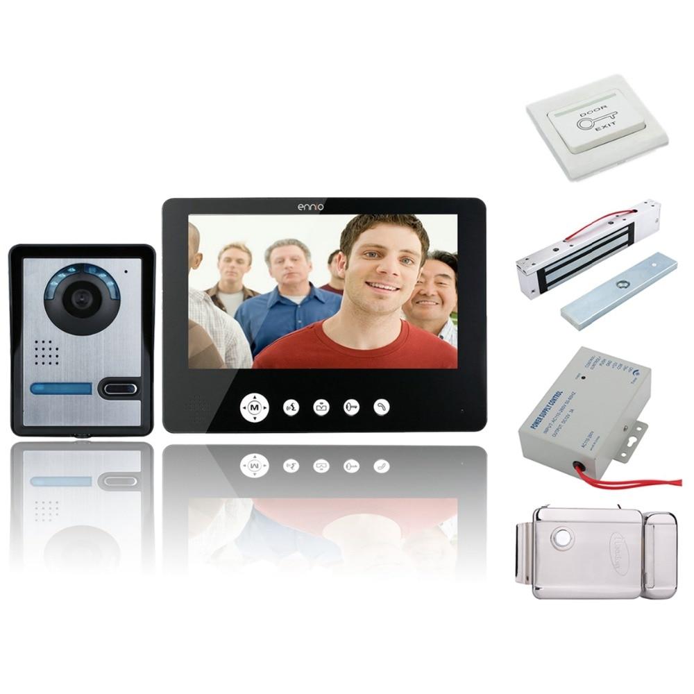 Home Security 7 Inch Video Door Phone Doorbell Intercom Kit Security Camera Intercom System 1-camera 2-monitor+electronic Locks