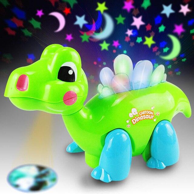 DIODO EMISSOR de Luz-Up Brinquedos Projetor Caixa de Presente Dragão Dança Musical Educacional das Crianças Brinquedos Engraçados Para As Crianças Presentes