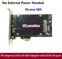 1PCS Free Shipping DEBROGLIE SATA III TO PCI E X1 SSD Adapter Card For MAC PRO