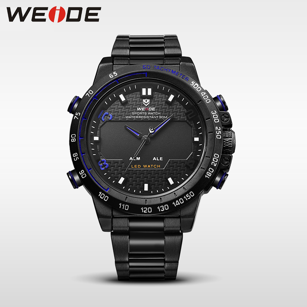 WEIDE men sport quartz watches luxury sport watch srainless steel bracelets date digital automatic self-wind water resistant weide men watch quartz contracted watch stainless steel date sport in digital watches led round big dial luxury fashion casual
