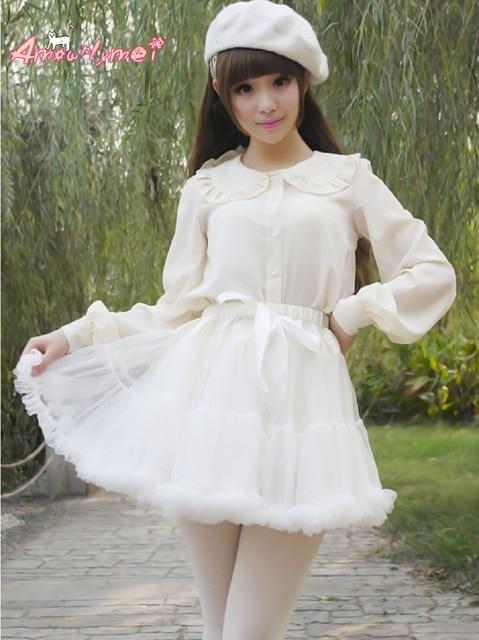 ab820c2731b Japanese Style Kawaii Lolita Skirt Tutu Tulle Skirt Women Princess Skirts  Saias Femininas 4 Colors Plus Size
