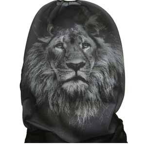 Image 5 - O SHI CAR 2 pcs Lion print front seat cover Universal personality car covers Protective seats Automotive interior decoration