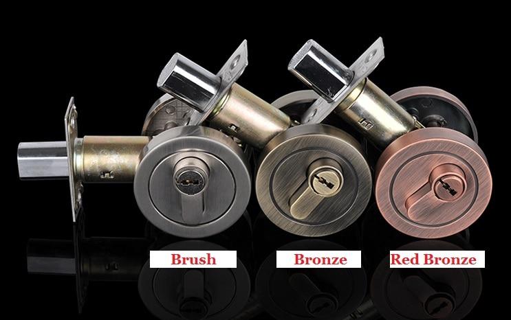 Premintehdw Keyed Privacy/Thumb Turn Thumbturn Lock-small elegant round back plates Bed Bath Door Lock (Door Thickness: 35-50mm) premintehdw bed bracket flap hinge hydraulic lift up