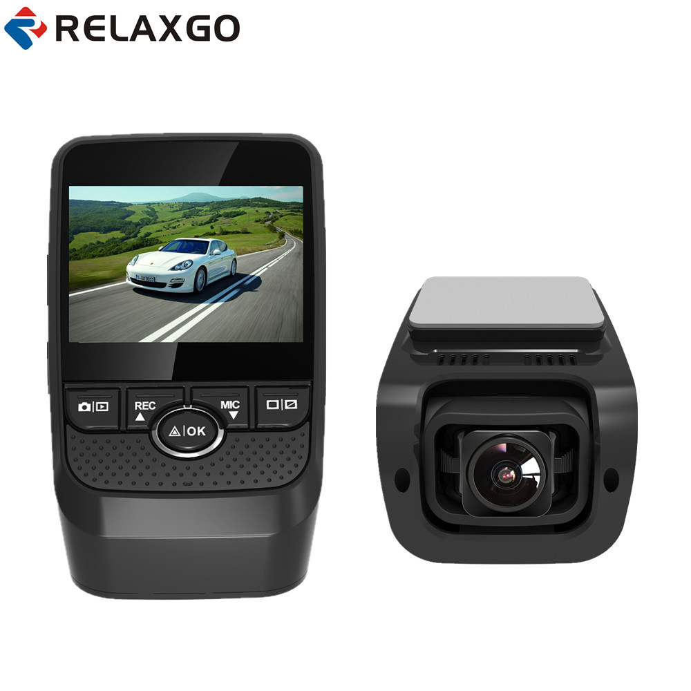 Relaxgo 2017 Mini Car DVR With GPS Logger Video Recoder Full HD 1080P Car Camera Novatek Dash Cam Night Vision Auto Black Box junsun ambarella a7 car dvr camera video recorder full hd 1080p 60fps speedcam with gps logger night vision dash cam registrar