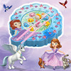 Disney PrinSofia The First Toy Musical Plastic Fishing Game Birthday Gifts Electronic Fishing Toys With Music