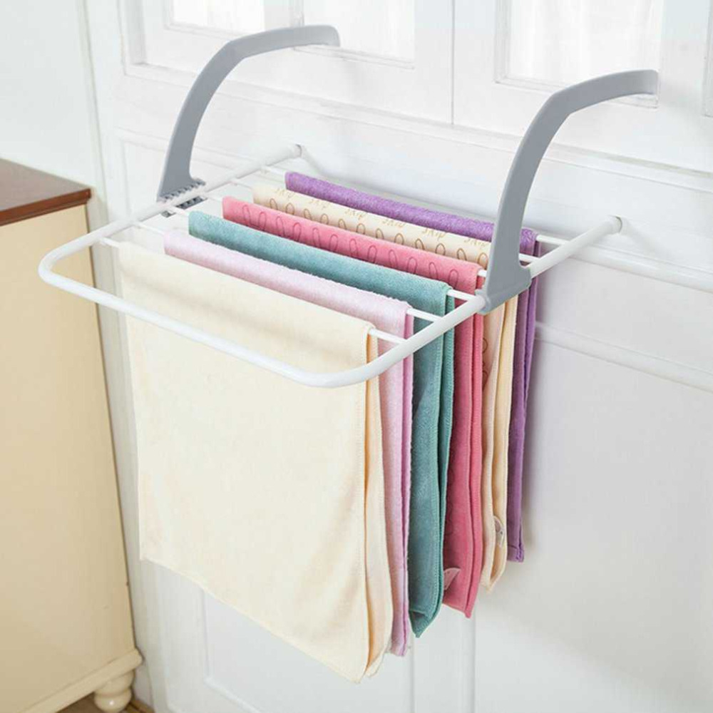 1PC Foldable Multifunction Shelf Drying Racks Clothes Shose Hanger Household Storage Heating Radiator Balcony