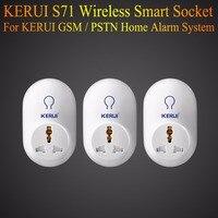Kerui interruptor remoto sem fio inteligente tomada de energia da ue eua reino unido au plug padrão para o sistema de alarme segurança em casa g19 g18 8218g 433 mhz