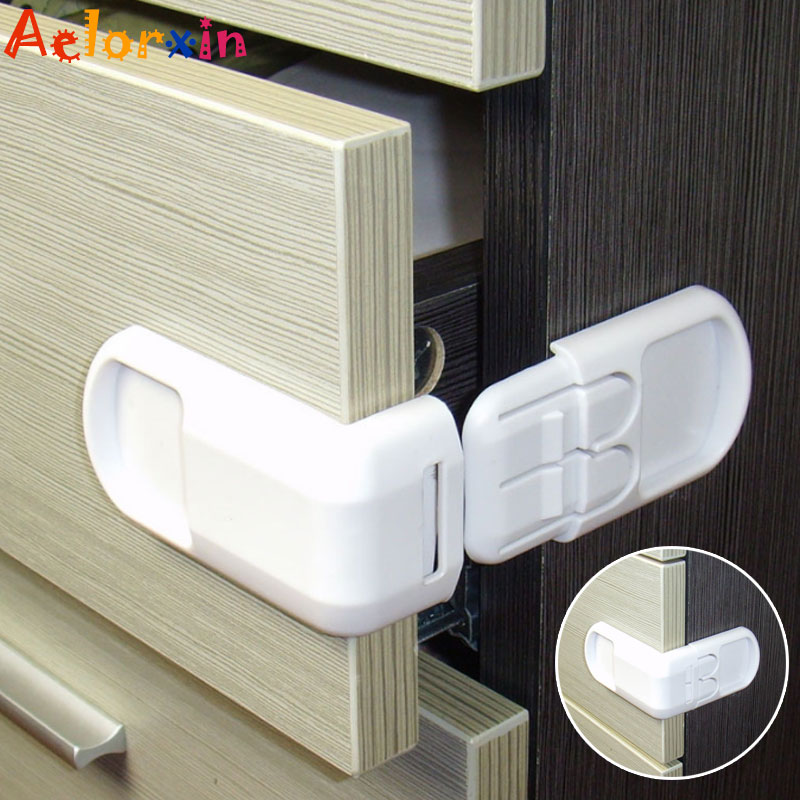 1Pcs Plastic <font><b>Baby</b></font> Safety Protection From Children Cabinets Boxes Lock Drawer Door Security <font><b>Product</b></font> Kids Child <font><b>Baby</b></font> <font><b>Proof</b></font> Locks image