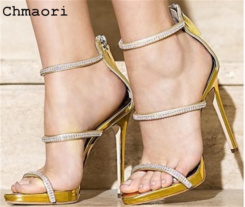 High Quality PU leather zipped thin high heel peep toe cover heel sandals ankle sandals good match and easy to walk fashionable pu leather and stiletto heel design sandals for women