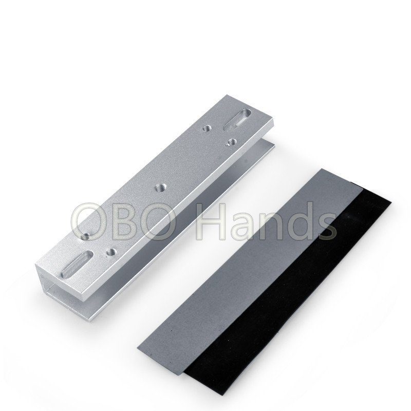 U type bracket for 280KG electric magnetic lock EM lock frameless glass for door access control system