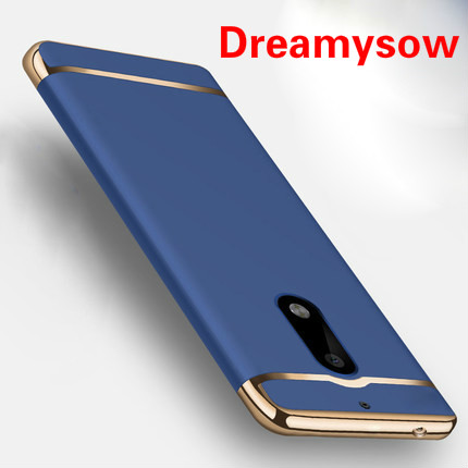 Dreamysow For Nokia 6 Case Removable 3 in 1 Hard Plastic Case For Nokia 6 Cover PC Plating Matte Cover for Nokia6 Case