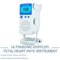 Ultrasonic Doppler Fetal Heart Rate Detector, Home use LCD Fetal Portable Heartbeat Detector for pregnant women Built in speaker