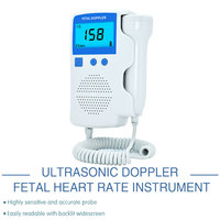 Ultrasonic Doppler Fetal Heart Rate Detector, Home use LCD Fetal Portable Heartbeat Detector for pregnant women Built in speaker