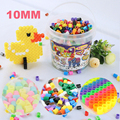 Mixed color 10 mm 2000pcs bottled eco-friendly diy hama perler 3D melty iron Toys for crafts kids craft beads Gift free shipping