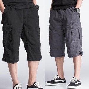 Image 5 - Zomer Korte voor Mannen Plus Size Cargo Shorts Casual Katoenen Strand Board Shorts met Multi Pocket Losse Baggy Joggers Kleding