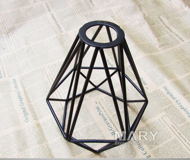 Diamond shap black retro edison vintage edison cage lights wire diamond shap black retro edison vintage edison cage lights wire lamp cagediy lampshade keyboard keysfo Images