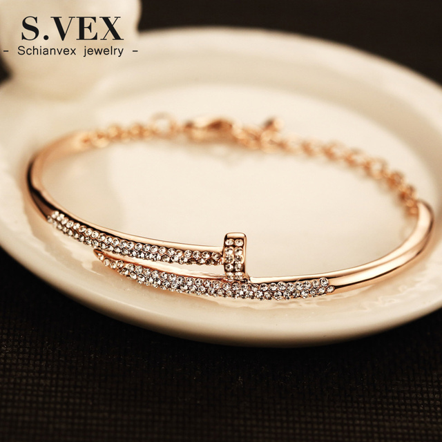 Svex 2017 Designer jewelry hoof hand cuff bangle bracelet wedding