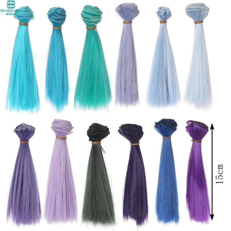 1pcs 15cm*100CM Thick Supple Doll Hair For 1/3 1/4 BJD Doll Wigs