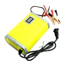 Hot 12V 6A Motorcycle Car Auto Battery Charger Intelligent Charging Machine Yellow