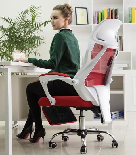 Купить с кэшбэком Ergonomic chair swivel chair foot screen cloth boss chair staff chair