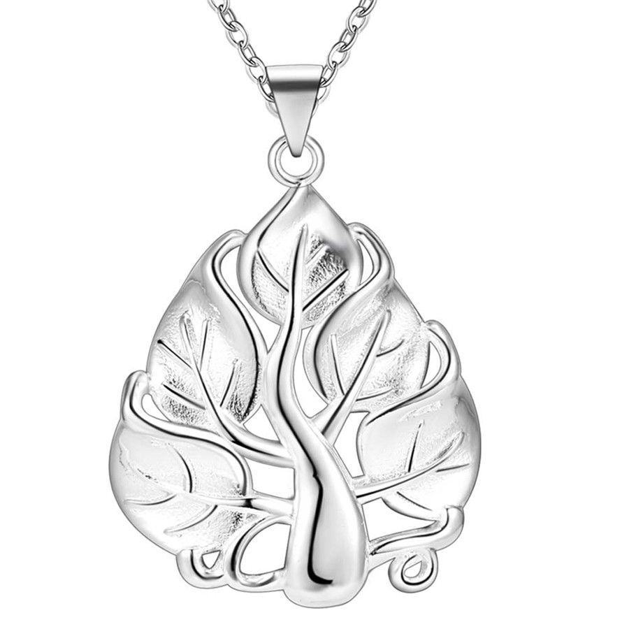 New popular silver plated cute noble women classic high quality necklace jewelry classic style free shipping